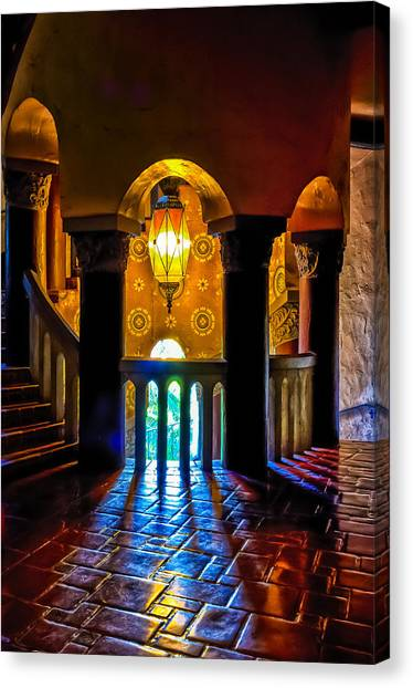 Santa Barbara Courthouse Glow Canvas Print