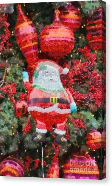 Santa Claus Canvas Print - Santa Claus Balloon by George Atsametakis