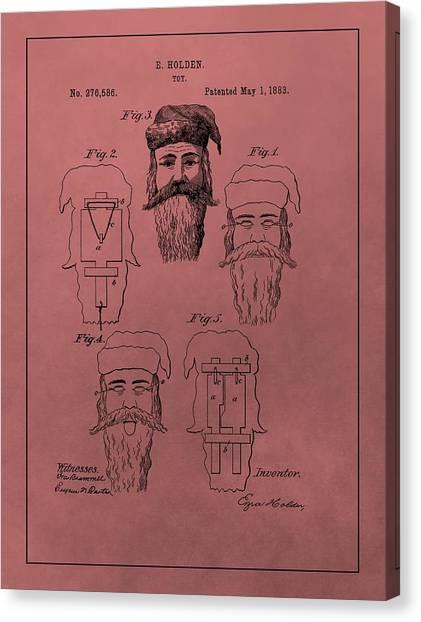 Santa Claus Canvas Print - Santa Claus Mask Patent by Dan Sproul