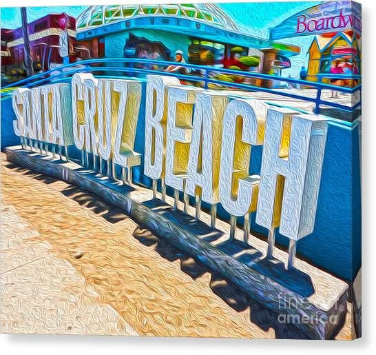 Santa Cruz Boardwalk Sign Canvas Print
