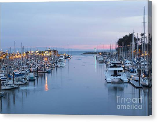 Santa Cruz Harbor At Dusk Canvas Print