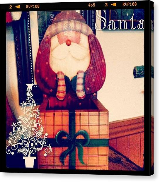 Holidays Canvas Print - #santa #decoration #christmas #holiday by Teresa Mucha
