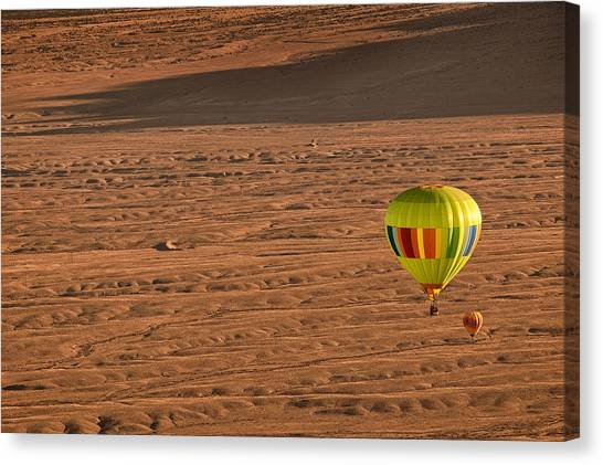 Hot Air Balloon Canvas Print - Santa Fe Bound by Keith Berr