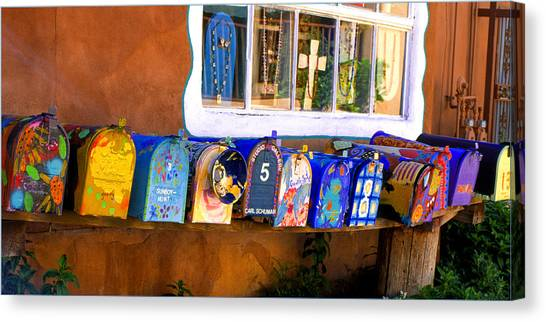 Santa Fe Mailboxes Canvas Print