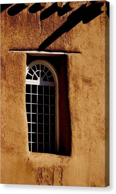 Santa Fe Nm Window Canvas Print by Jacqueline M Lewis