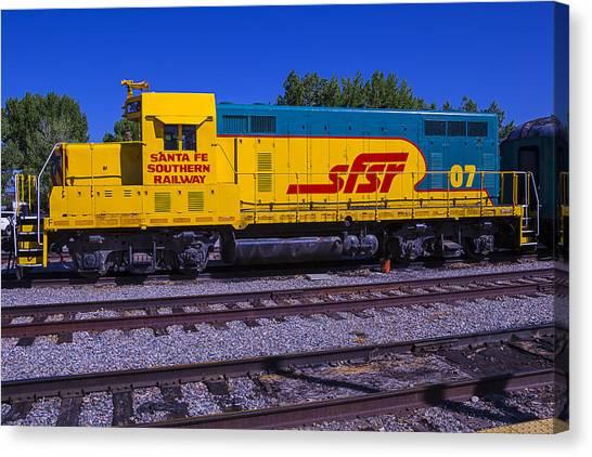 Roadrunner Canvas Print - Santa Fe Southern Railway Engine by Garry Gay