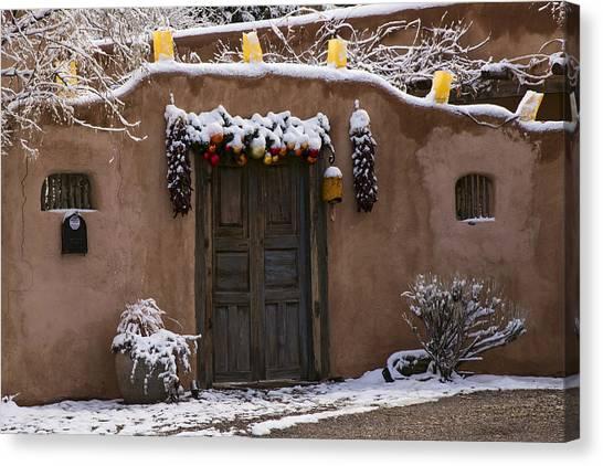 Santa Fe Style Southwestern Adobe Door Canvas Print