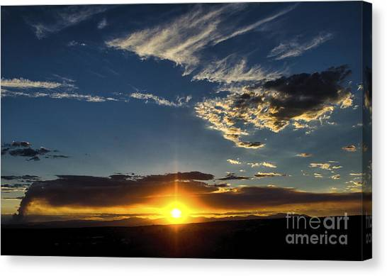 Santa Fe Wildfire At Sunset Canvas Print