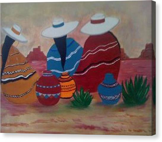 Santa Fe Women Canvas Print