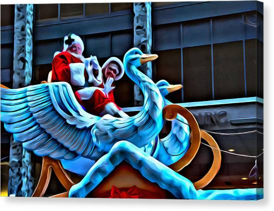 Macys Parade Canvas Print - Santa In Philly by Alice Gipson