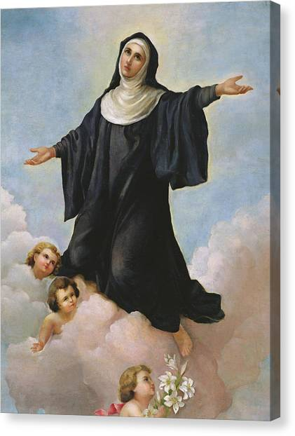 Nuns Canvas Print - Santa Liberata In Glory by Italian School