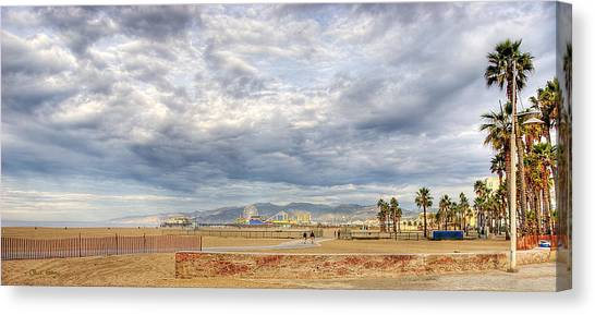 Santa Monica Beach Canvas Print