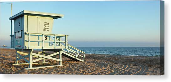 Santa Monica Lifeguard Station Canvas Print by S. Greg Panosian