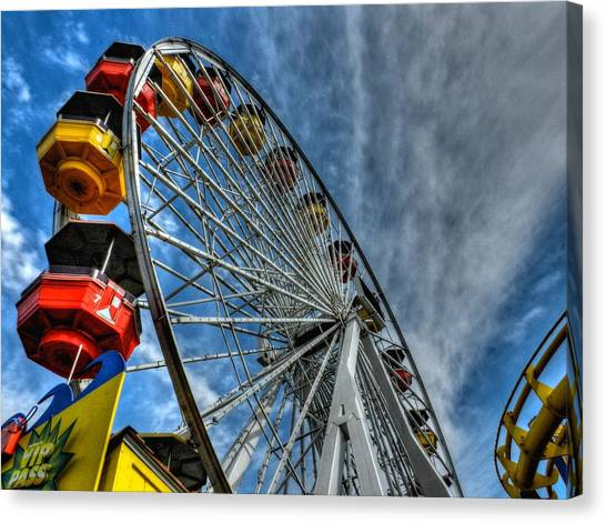 Santa Monica Canvas Print - Santa Monica Pier 006 by Lance Vaughn