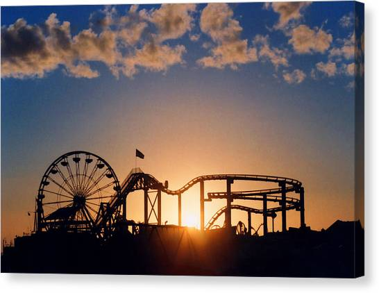 Pier Canvas Print - Santa Monica Pier by Art Block Collections