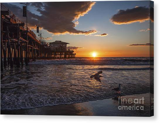 Santa Monica Sunset Canvas Print