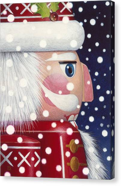Santa Nutcracker Canvas Print