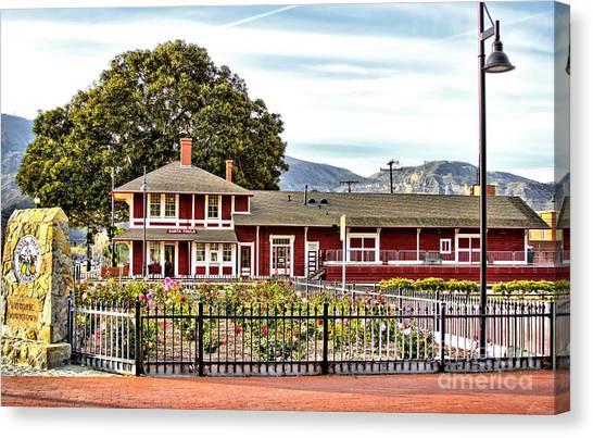 Santa Paula Train Station Canvas Print
