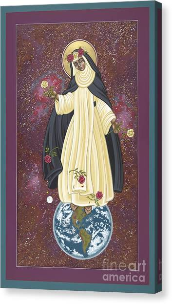 Santa Rosa Patroness Of The Americas 166 Canvas Print