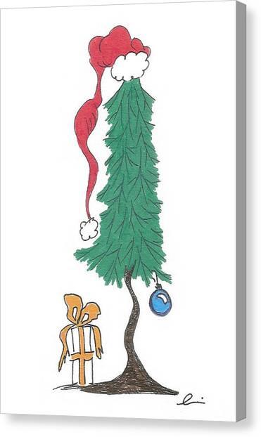Santa Tree Canvas Print
