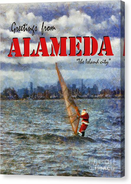 Alameda Santa's Greetings Canvas Print