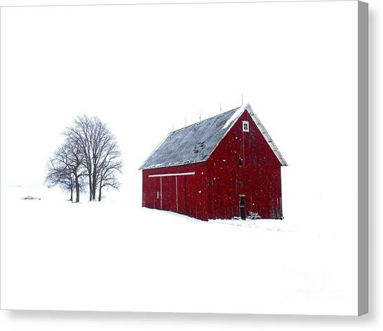 Santa's Barn Canvas Print
