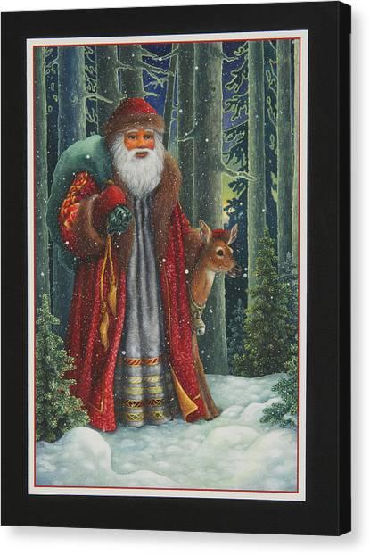 Santa's Journey Canvas Print
