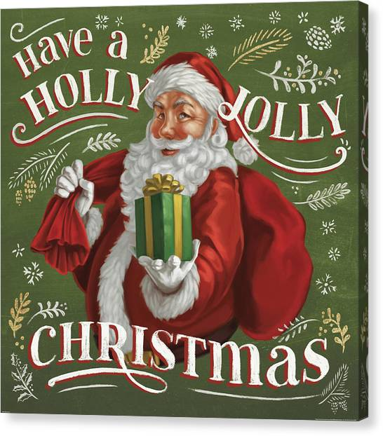 Santas List I Canvas Print by Janelle Penner