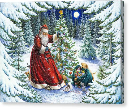 Santa's Little Helpers Canvas Print