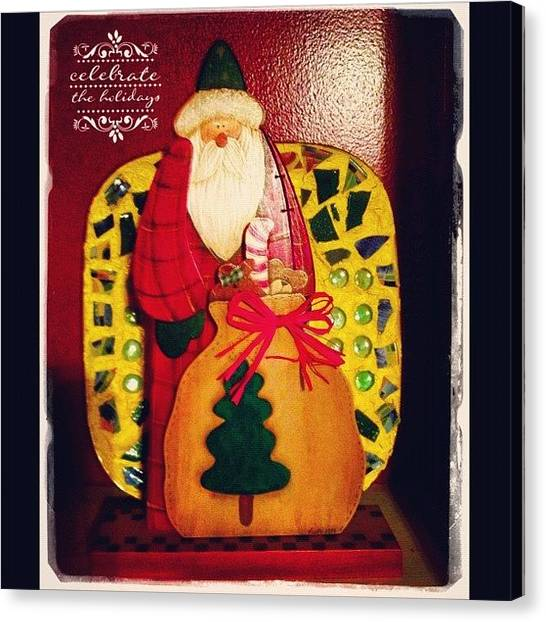Holidays Canvas Print - Santa's Sack Is Getting Full! #santa by Teresa Mucha
