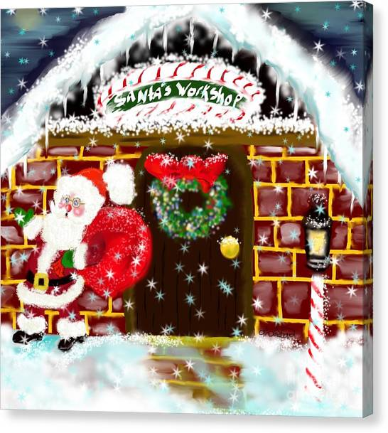 Fire Ball Canvas Print - Santa's Workshop by Lori  Lovetere