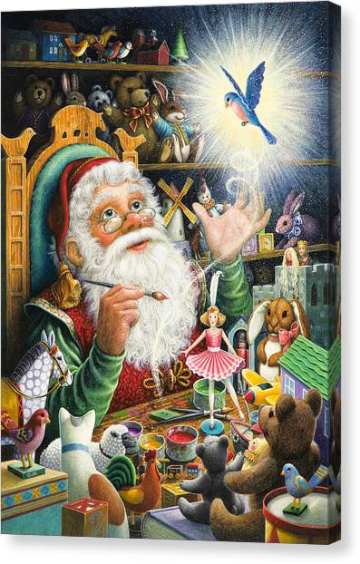 Santa's Workshop Canvas Print