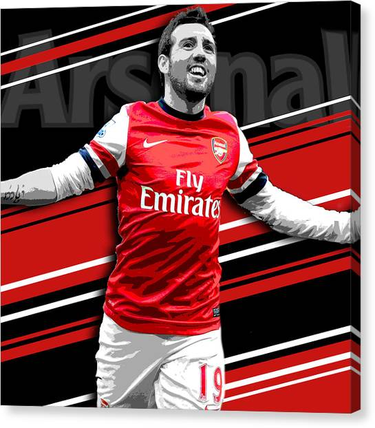 Lionel Messi Canvas Print - Santi Cazorla Arsenal Print by Pro Prints