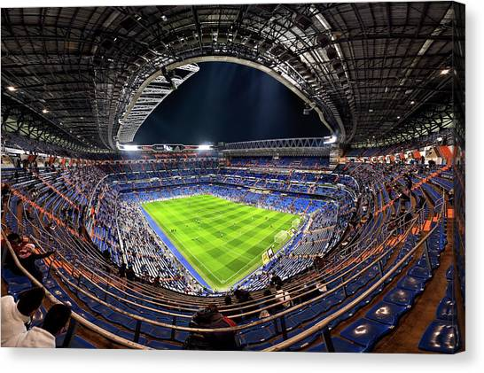 Real Madrid Canvas Print - Santiago Bernaba?u by Jes?s M. Garc?a