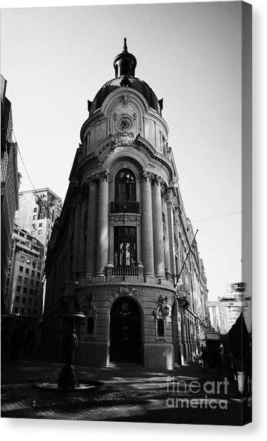 Santiago Stock Exchange Building Chile Canvas Print by Joe Fox