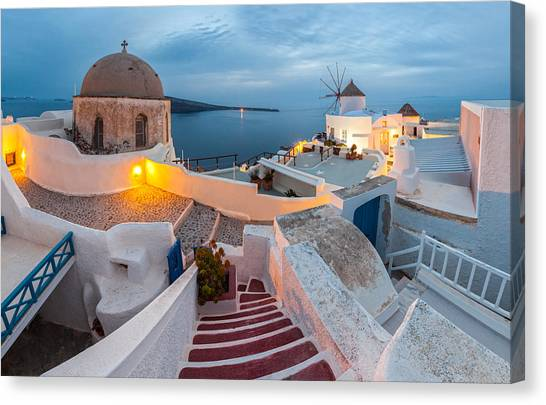 Greece Canvas Print - Santorini by Evgeni Dinev