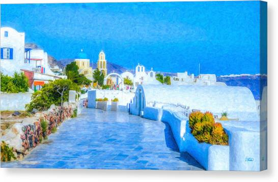 Santorini Grk4120 Canvas Print