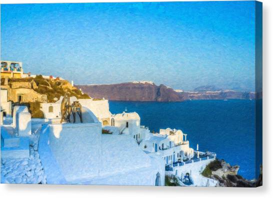 Santorini Grk4163 Canvas Print