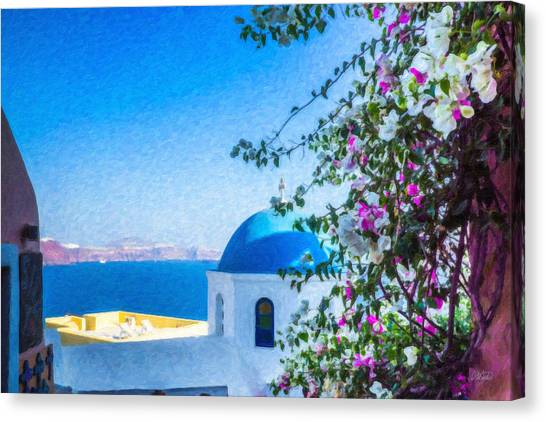 Santorini Grk4166 Canvas Print