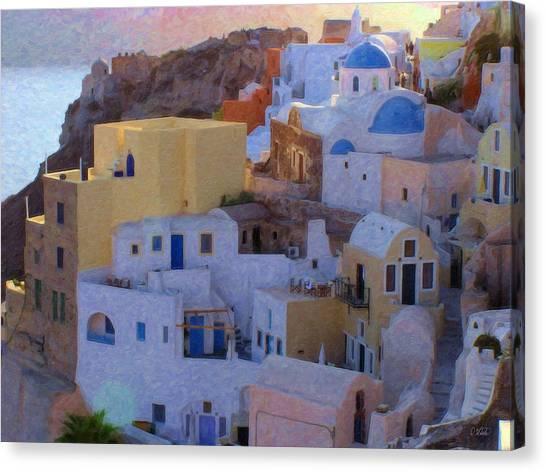 Santorini Grk6424 Canvas Print