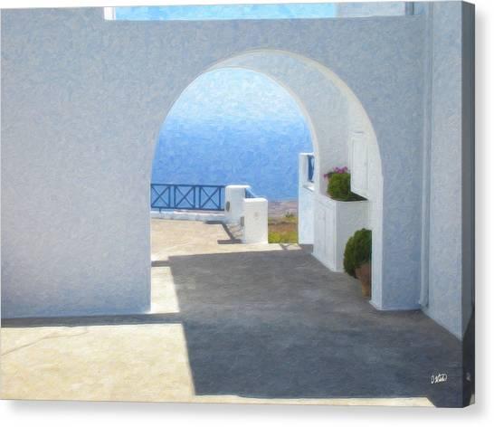 Santorini Grk8681 Canvas Print