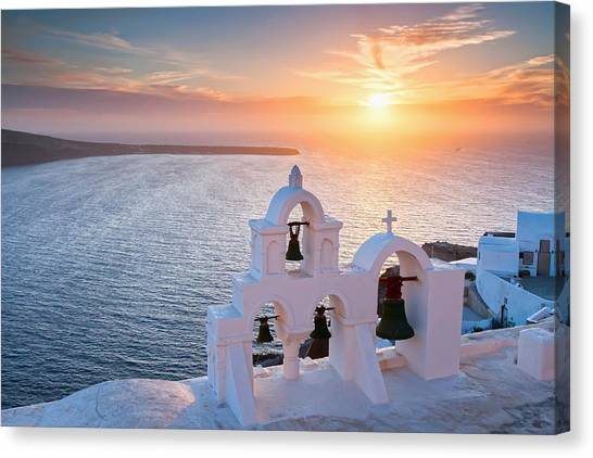 Greece Canvas Print - Santorini Sunset by Evgeni Dinev
