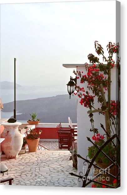 Sarah Christian Canvas Print - Santorini Terrace by Sarah Christian
