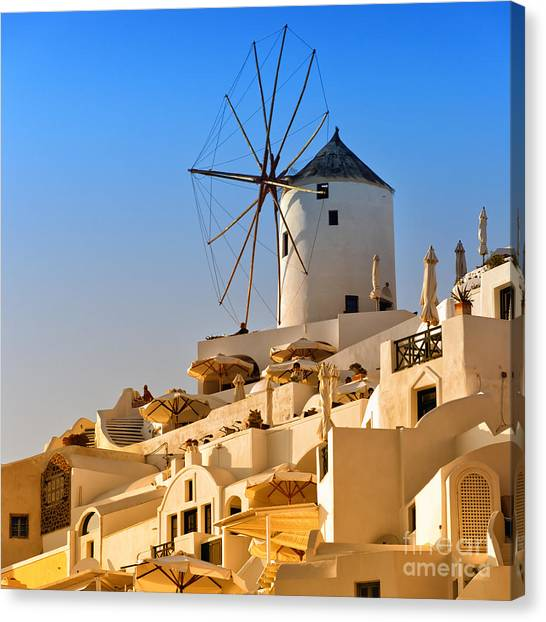 Santorini Windmill 05 Canvas Print