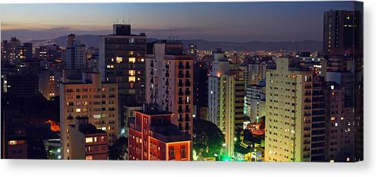Sao Paulo Downtown At Dusk Canvas Print