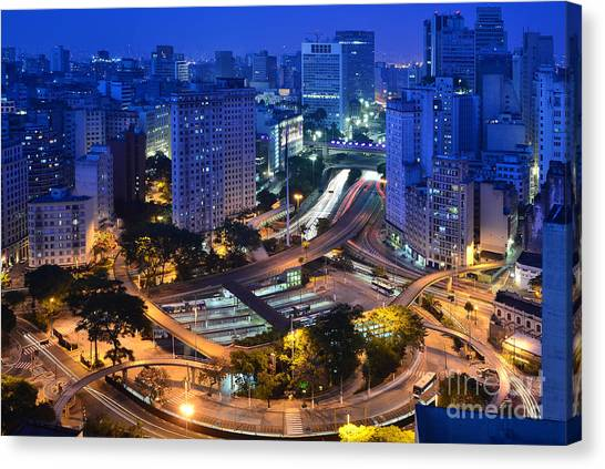 Sao Paulo Skyline - Downtown Canvas Print
