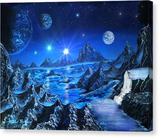 Sapphire Planet Canvas Print