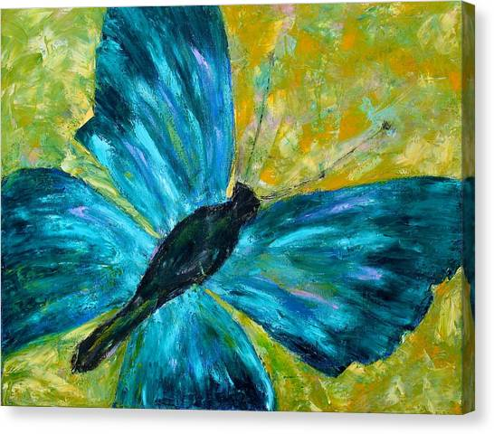 Sapphirine Butterfly Canvas Print