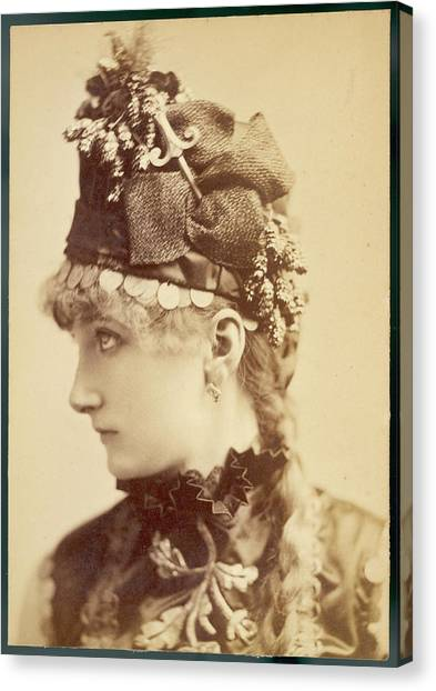 Sarah Bernhardt (1845 - 1923), French Canvas Print by Mary Evans Picture Library