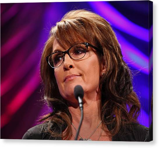 Sarah Palin Canvas Print - Sarah by Mike Flynn